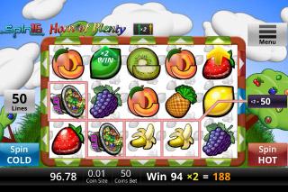 Horn Of Plenty Mobile Slot Reel Win