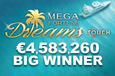 NetEnt Mega Fortune Dreams Slot Wins Big On iPad