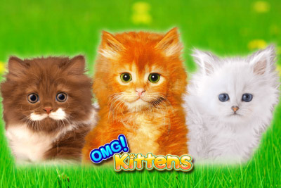 OMG Kittens Mobile Slot Logo