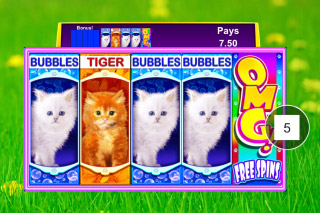 OMG Kittens Mobile Slot Reels