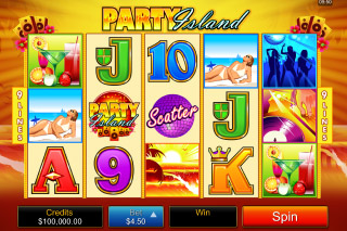 Party Island Mobile Slot Reels