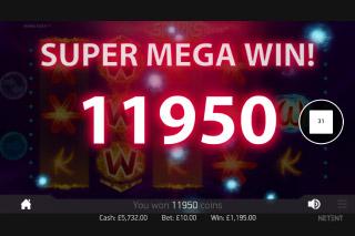 Sparks Mobile Slot Super Mega Win