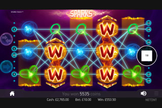 Sparks Mobile Slot Wilds Win