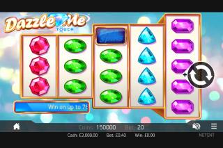 Dazzle Me Mobile Slot Reels