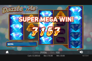 Dazzle Me Mobile Slot Super Mega Win