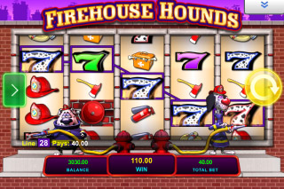 Firehouse Hounds Mobile Slot Reels