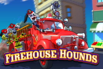 Firehouse Hounds Mobile Slot Logo
