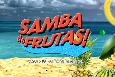 Samba de Frutas Mobile Slot Logo