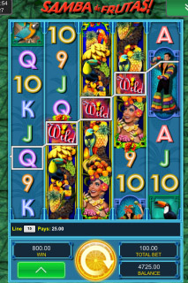 Samba de Frutas Mobile Slot Wilds