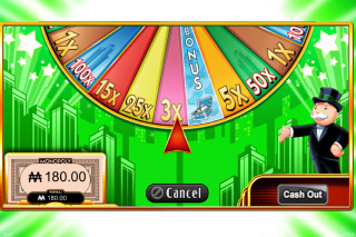 Super Monopoly Money Wheel Bonus