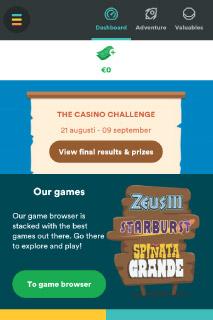 Casumo Mobile Casino Challenges