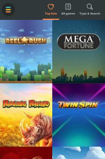 Casumo Mobile Casino Games