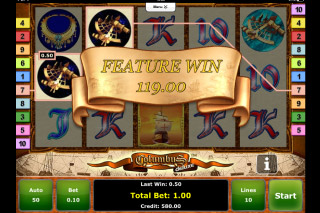 Columbus Deluxe Mobile Slot Free Spins Win