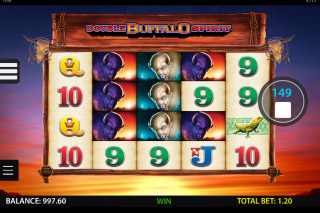 Double Buffalo Spirit Mobile Slot Reels