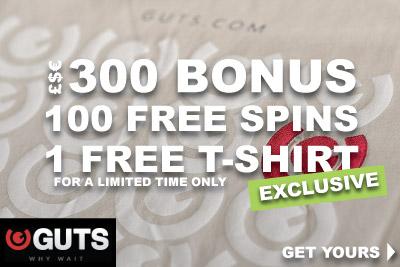 Exclusive GUTS Casino Bonus - Get Your Free T-Shirt