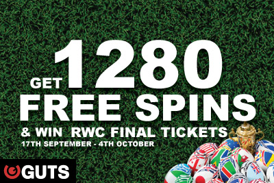 Get 1280 Free Casino Spins & Win Rugby World Cup Final Tickets