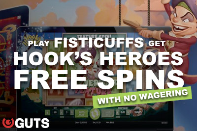 Play Fisticuffs Get Guts Free Spins On Hook's Heroes