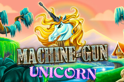 Machine Gun Unicorn Mobile Slot Logo