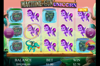 Machine Gun Unicorn Mobile Slot Reels