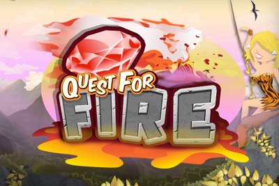 Quest For Fire Mobile Slot Logo