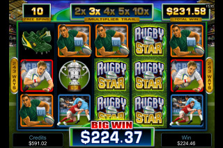 Rugby Star Mobile Slot Big Win