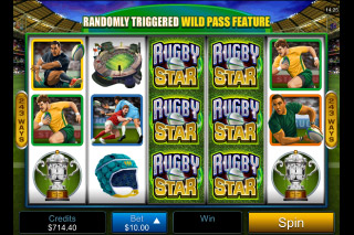 Rugby Star Mobile Slot Reels