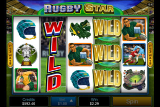 Rugby Star Mobile Slot Wilds