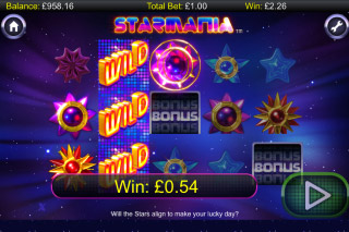 Starmania Mobile Slot Reels
