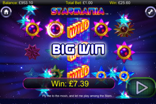 Starmania Mobile Slot Big Win