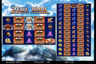 Zeus 1000 Mobile Slot Reels