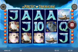 Arctic Treasure Mobile Slot Reels