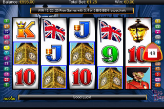 Big Ben Mobile Slot Reels