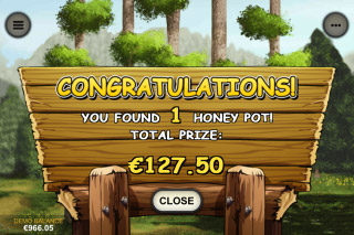 Bonus Bears Mobile Slot Feature Win