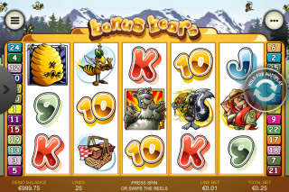 Bonus Bears Mobile Slot Reels