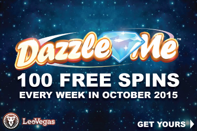 Get Your Leo Vegas Free Spins On Dazzle Me Every Week