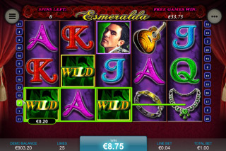 Esmeralda Mobile Slot Free Spins