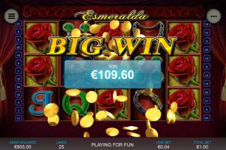 Esmeralda Mobile Slot Big Win
