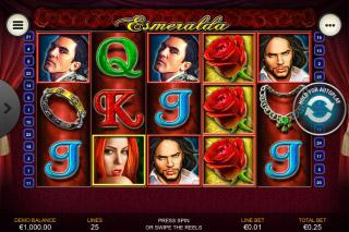 Esmeralda Mobile Slot Reels