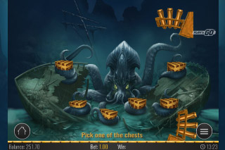 Eye of the Kraken Mobile Slot Bonus Game