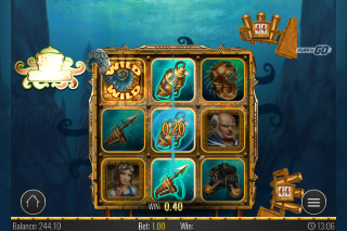 Eye of the Kraken Mobile Slot Reels