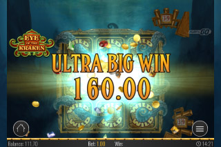 Eye of the Kraken Mobile Slot Ultra Big Win