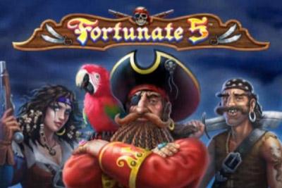 Fortunate 5 Mobile Slot Logo