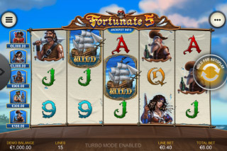 Fortunate 5 Mobile Slot Reels