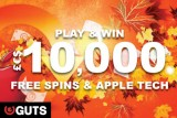 Play To Win Cash, Free Spins & Apple Tech In October 2015