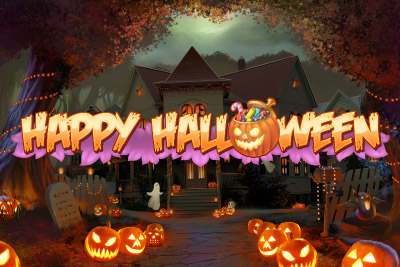 Happy Halloween Mobile Slot Logo