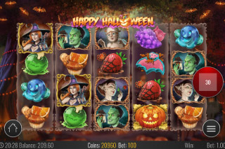 Happy Halloween Mobile Slot Reels