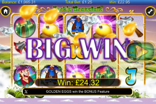 Jacks Beanstalk Mobile Slot Big Win
