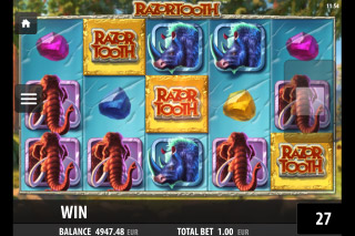 Razortooth Mobile Slot Reels