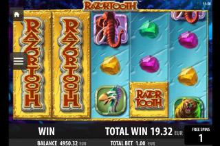 Razortooth Mobile Slot Wild Reels
