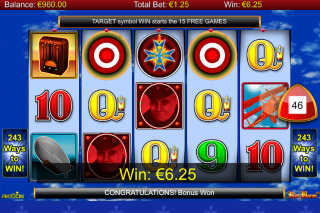 Red Baron Mobile Slot Reels